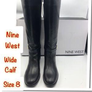 Nine West Giani3 Tall Boots size 8 Wide calf New